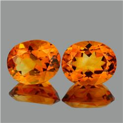 Natural AAA Golden Yellow Citrine Pair  {VVS}
