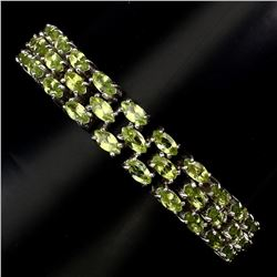 Natural Top Rich Green Peridot 154.33 Ct Bracelet