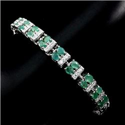 Natural 4x3mm Top Rich Green Emerald Bracelet
