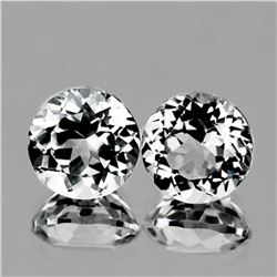 Natural Natural White Topaz 8.00 MM Pair - FL