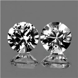 Natural  Diamond Cut White Zircon Pair 6.50 MM - FL
