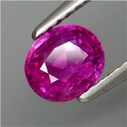 Natural Hot Red Pink Ruby 1.23 Cts - Untreated