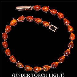 Natural Top Rich Orange Fire Opal 52.96 Ct Bracelet