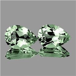NATURAL LIGHT GREEN AMETHYST PAIR 10x7 MM