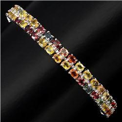 Natural Fancy Colors Sapphire 99.32 Ct Bracelet