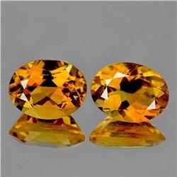 NATURAL GOLDEN YELLOW CITRINE Pair 9x7 MM - FL