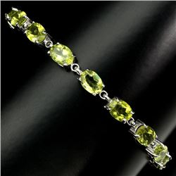 Natural 7x5 MM Rich Green Peridot Bracelet