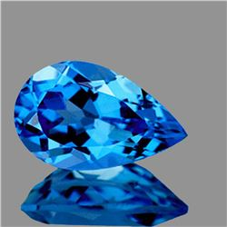 NATURAL INTENSE SWISS BLUE TOPAZ 15x9 MM