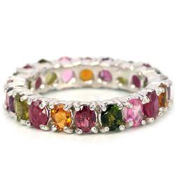Natural RUBY TOURMALINE & RHODOLITE GARNET Ring
