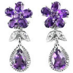 NATURAL PURPLE AMETHYST Earrings