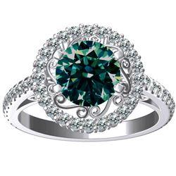 Stunning 2.5 Ct Centerstone Lab Diamond Ring.