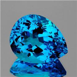 Natural Magnificent Swiss Blue Topaz 20x16 MM - FL