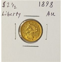 1898 $2 1/2 Liberty Head Quarter Eagle Gold Coin
