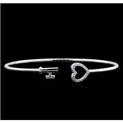 0.15 ctw Diamond Bracelet - 14KT White Gold