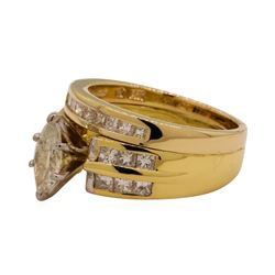 1.27 ctw Diamond Ring - 14-18KT Yellow Gold