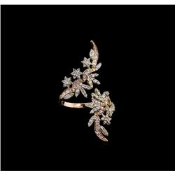 1.03 ctw Diamond Ring - 14KT Two-Tone Gold