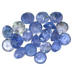 12.34 ctw Round Mixed Tanzanite Parcel