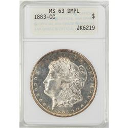 1883-CC $1 Morgan Silver Dollar Coin ANACS MS63 DMPL