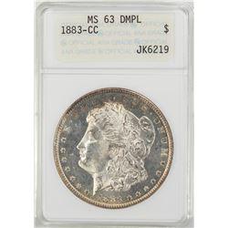 1883-CC $1 Morgan Silver Dollar Coin ANACS MS63 DMPL