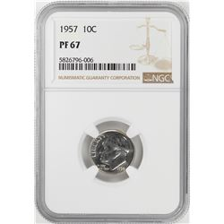 1957 Proof Roosevelt Dime Coin NGC PF67