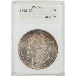 1890-CC $1 Morgan Silver Dollar Coin ANACS MS62