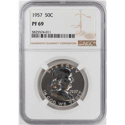 1957 Proof Franklin Half Dollar Coin NGC PF69  Graded Top Pop