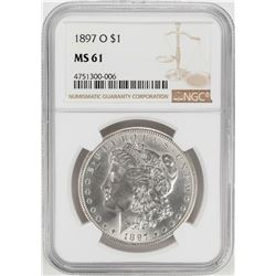 1897-O $1 Morgan Silver Dollar Coin NGC MS61