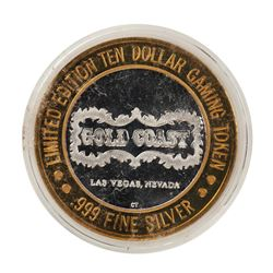 .999 Fine Silver Gold Coast Las Vegas, Nevada $10 Casino Limited Edition Gaming Token