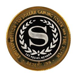 .999 Silver Desert Inn Las Vegas, Nevada $10 Limited Edition Gaming Token