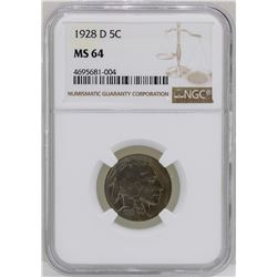 1928-D Buffalo Nickel Coin NGC MS64