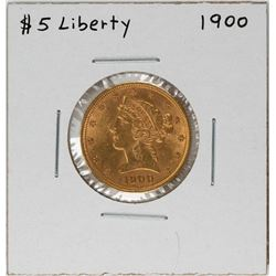 1900 $5 Liberty Head Half Eagle Gold Coin