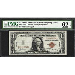 1935A $1 Hawaii Silver Certificate WWII Emergency Note PMG Uncirculated 62EPQ