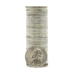 Roll of (40) Brilliant Uncirculated 1943-S Washington Quarter Coins