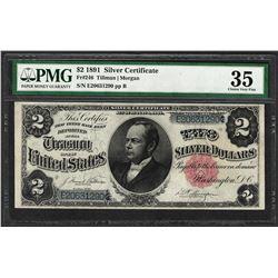 1891 $2 Windom Silver Certificate Note Fr.246 PMG Choice Very Fine 35