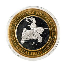 .999 Silver Excalibur Las Vegas, NV $10 Casino Limited Edition Gaming Token