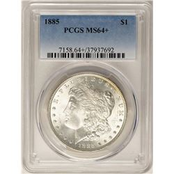 1885 $1 Morgan Silver Dollar Coin PCGS MS64+ Nice Reverse Toning