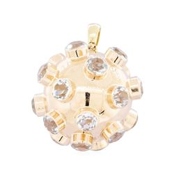 14KT Rose Gold 10.00 ctw Aquamarine Ball Pendant