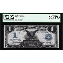 1899 $1 Black Eagle Silver Certificate Note Fr.236 PCGS Gem New 66PPQ