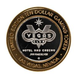 .999 Fine Silver Las Vegas Club $10 Limited Edition Gaming Token