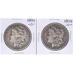 Lot of (2) 1894-O $1 Morgan Silver Dollar Coins