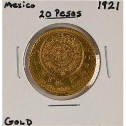 1921 Mexico 20 Pesos Gold Coin