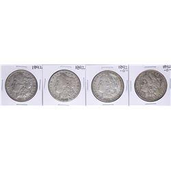 Lot of (4) 1892 & 1892-O $1 Morgan Silver Dollar Coins