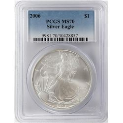 2006 $1 American Silver Eagle Coin PCGS MS70