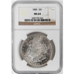 1882 $1 Morgan Silver Dollar Coin NGC MS64