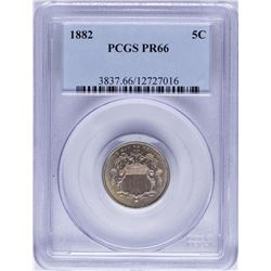 1882 Shield Nickel Proof Coin PCGS PR66