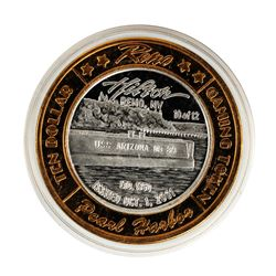 .999 Silver Hilton Reno, Nevada $10 Casino Limited Edition Gaming Token