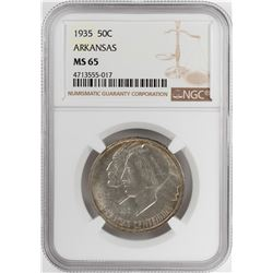 1935 Arkansas Centennial Commemorative Half Dollar Coin NGC MS65