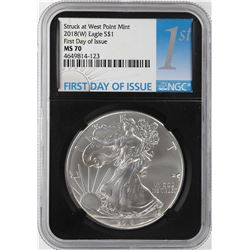 2018-W $1 American Silver Eagle Coin NGC MS70 First Day of Issue