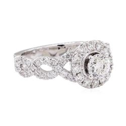 14KT White Gold 1.61 ctw Diamond Wedding Ring