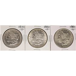 Lot of 1879-O to 1881-O $1 Morgan Silver Dollar Coins